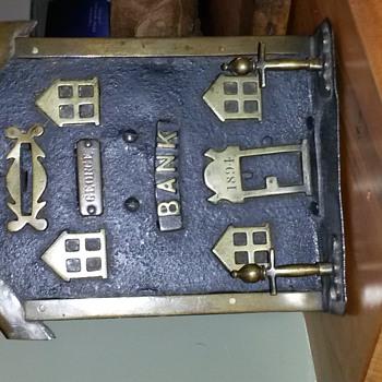 blacksmith made bank folk art - Coin Operated