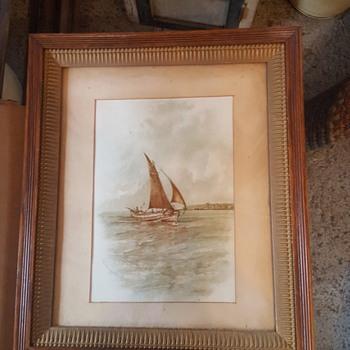 Charles E. Hern Watercolor  - Fine Art