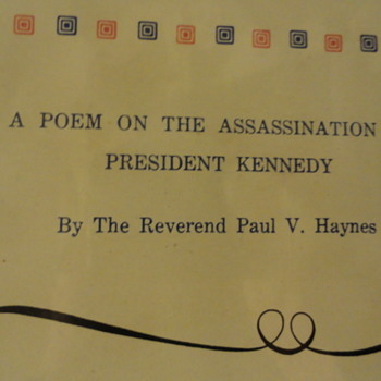 1964 Poem Of The Assassination Of President Kennedy