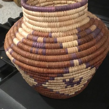 Native American Olla Coiled Basket - Furniture