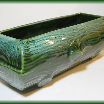 BEAUCEWARE Pottery LOG PLANTER -  CANADIAN - Pottery