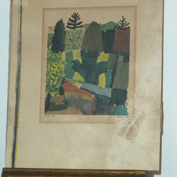 Signed Paul Klee - Fine Art