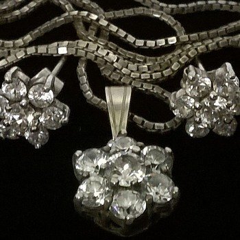 The Silver Flower Version Of My Costume Flower Design  Necklace - Fine Jewelry