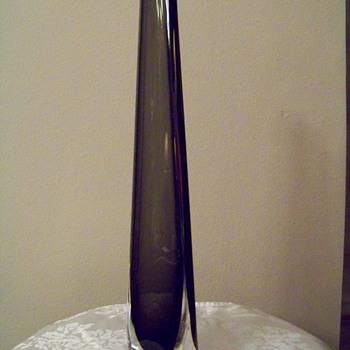 Orrefors Dusk Vase, Triangular shape, 38 cm tall - Art Glass