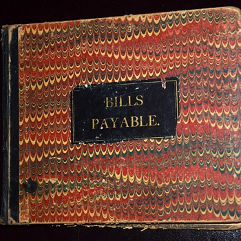 Bills Payable / Bills Receivable 1880s Account Books from Cold Springs, Minnesota - Books