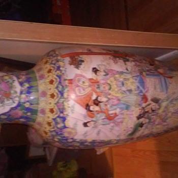 30 year old four feet tall Asian floor vase - Asian