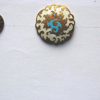 Antique Buttons Depicting Birds and Antique Enameled Buttons - Sewing