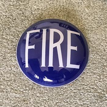Fire Engine Glass Light Lens--I Beleive????? - Firefighting