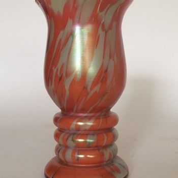 Czech vase, possibly Kralik - Art Glass