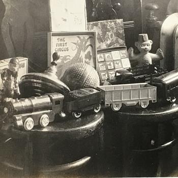 """Bubbie's Toys Dec 25, 1934"" Real Photo - Christmas"