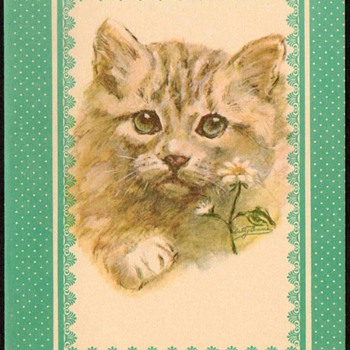 "1978 - ""Kitty Cat"" Note Card - Cards"