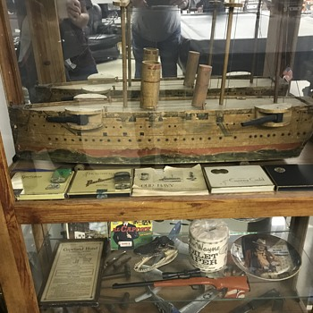 Antique model military ship  - Toys