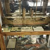 Antique model military ship
