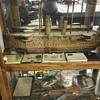 Antique model military ship