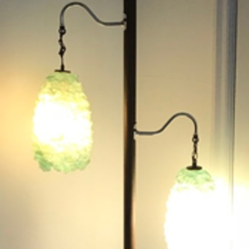 Mid century modern tension pole light. - Lamps