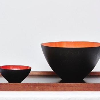 Krenit Bowls and Finn Juhl Tray (Denmark), 1950's - Mid-Century Modern
