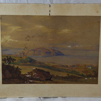 Western Painting Signed J. CAW 1861