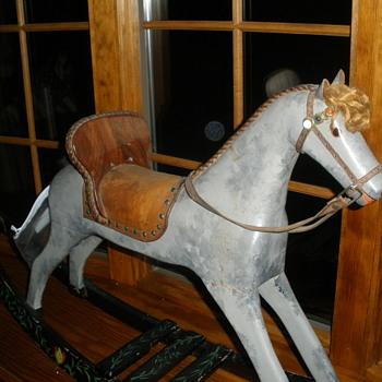 wooden rocking horse - Animals