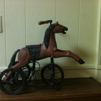 my lil wooden horse tricycle - Animals