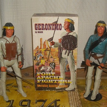 Geronimo From The Fort Apache Fighters Series Johnny West - Toys