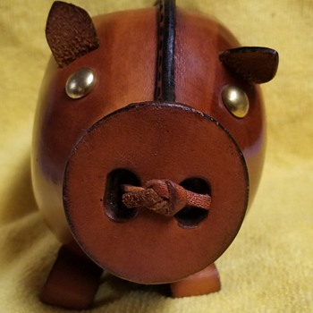 Dad's Leather Piggy Bank - Kounoike - Animals