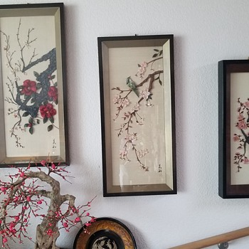 Japanese Silk Bonsai - Shadow Boxes - Asian