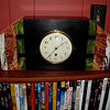Green Black Red and White Marble Art Deco Clock 1930s