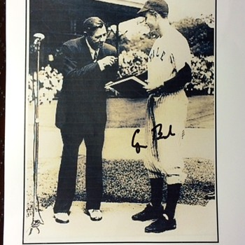 Babe Ruth and George H Bush autograph  - Baseball
