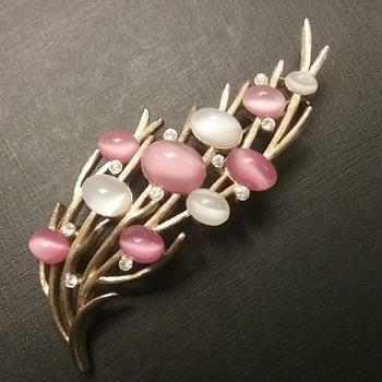 Trifari faux moonstone brooch  - Costume Jewelry