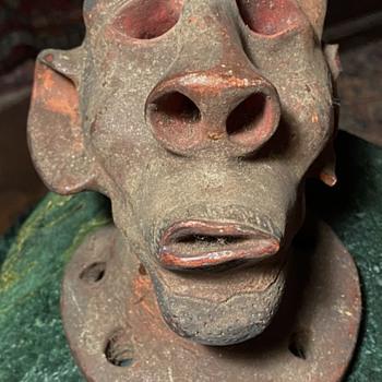 The Head of an African American Man - Folk Art