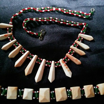 Grandmother's necklace and bracelet  - Costume Jewelry