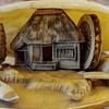 Vintage Japanese anabori Netsuke clamshell diorama