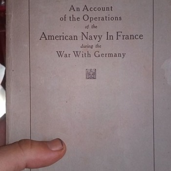 Book on WWI with letter - Military and Wartime