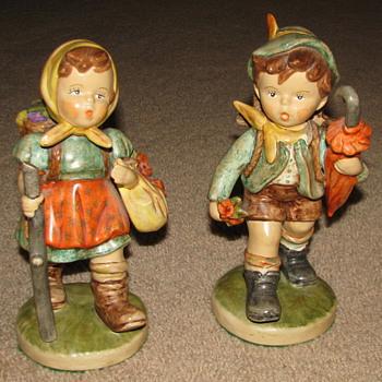 Porcelain Figurines (Little Boy & Girl) - Pottery