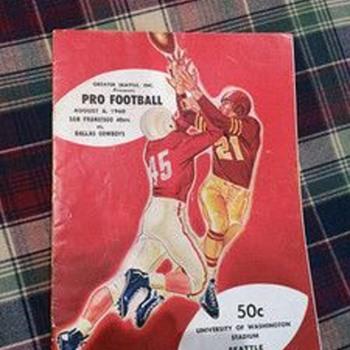 8/6/1960 Dallas Cowboys vs San Francisco 49ers program - Football