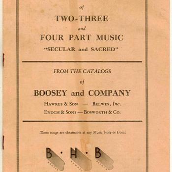 1932 - Bosworth & Co. Music Catalogs - Music Memorabilia