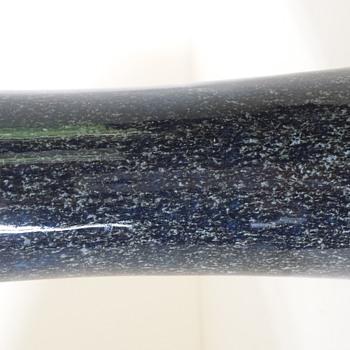 Blue glazed vase - Pottery