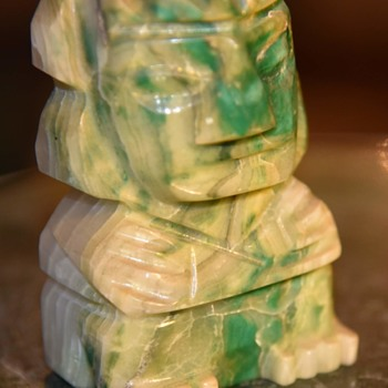 Aztec Figure - Carved and Dyed Onyx? - Fine Art