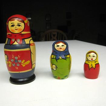 Matroyshka, Stacking or Babooshka Dolls