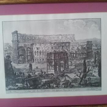 Veduta Dell Arco Di Coftantino E Dell Print