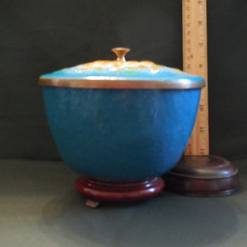 Mesick Studios Convivial Ware Enamel On Copper Covered Bowl Mid Century - Kitchen