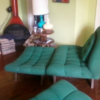 My Weekend Estate Sale Find! Adrian Pearsall Goundola Sofa & Chair Ottomon - Furniture