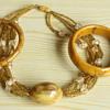 Tortoise colored bakelite necklace