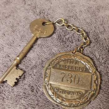 old key for room 730, HOTEL KAISERHOF, CHICAGO - Tools and Hardware