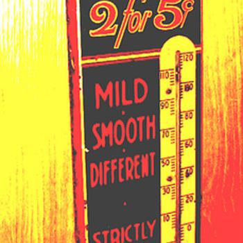 Dry-Slitz Cigar Thermometer - Advertising