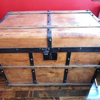 Antique Campaign Trunk - Furniture
