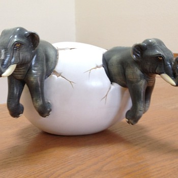 Twin Elephants - Pottery