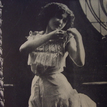 "1908-1917 Postcard, ""TEASE"" PRETTY GIRL ENGAGED IN UNDRESSING--IN GOOD TASTE! - Postcards"