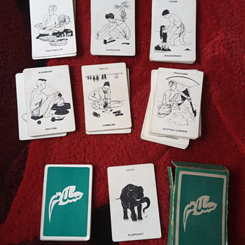Old playing cards from India - Cards