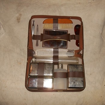 Vintage Mens Toiletry Travel Kit Made in Austria - Accessories